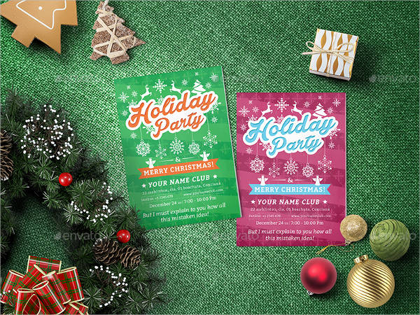 printable holiday party flyer templates