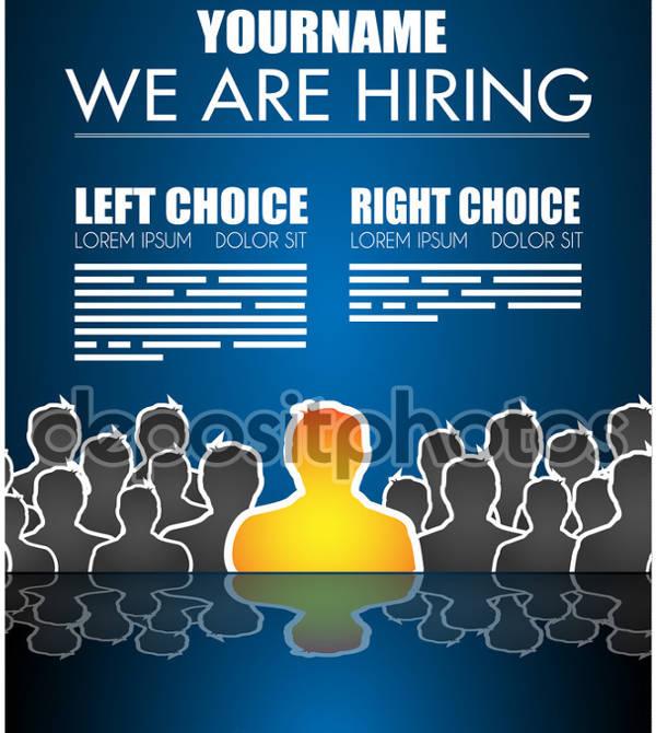 printable job advertising poster