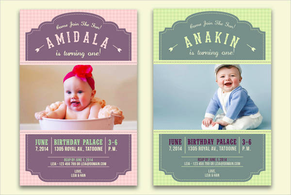 printable kid birthday invitation