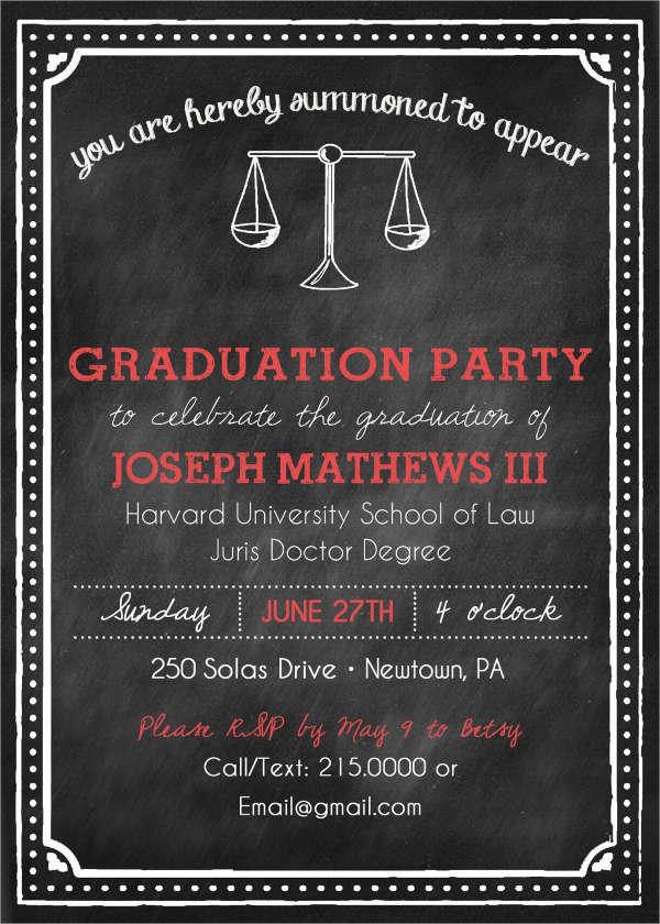 printable law school graduation invitation