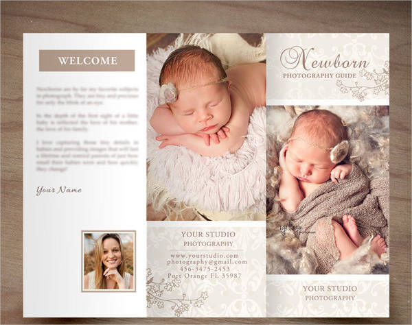 printable photography trifold brochure template