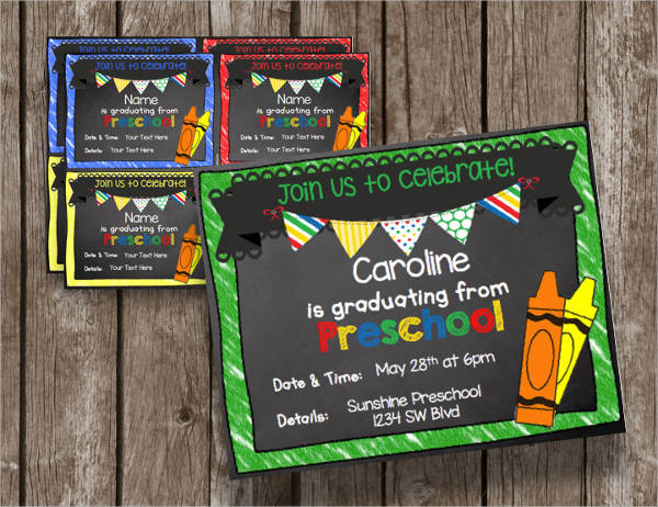 printable preschool graduation invitation