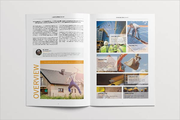 professional construction brochure template