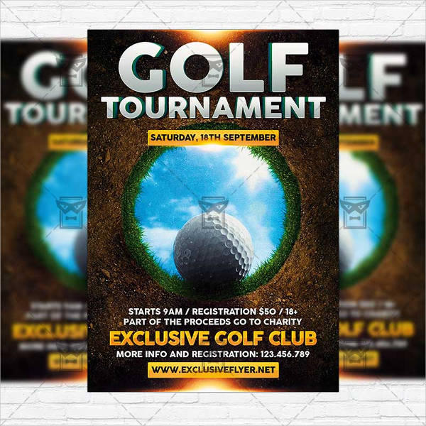 proffesional golf event flyer1