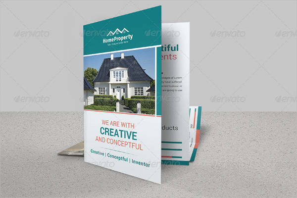 real estate company bifold brochure