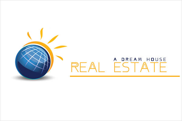 real estate logo template psd