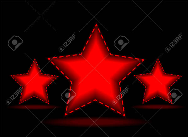 red and black star vector