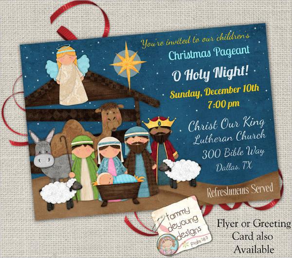 religious christmas party invitation