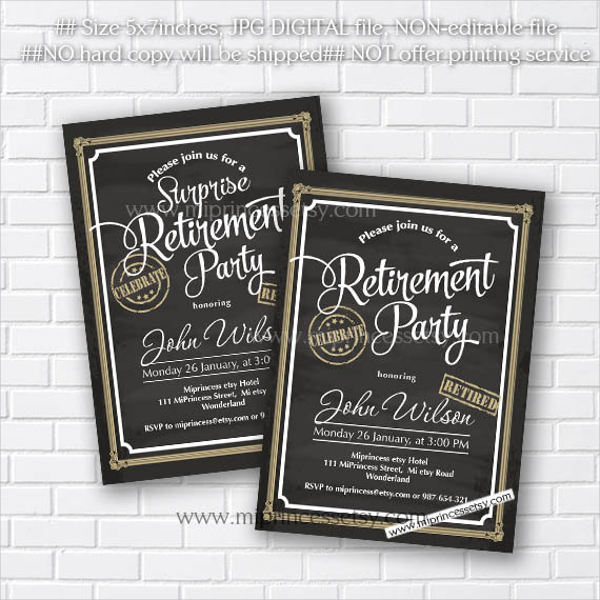 retirement celebration invitation cards