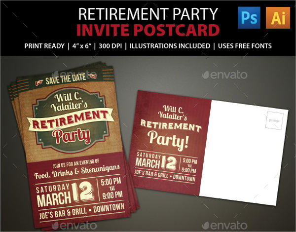 6  retirement invitation templates free download