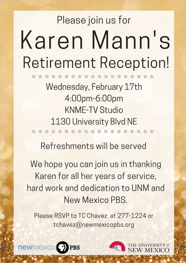 retirement party invitation flyer template