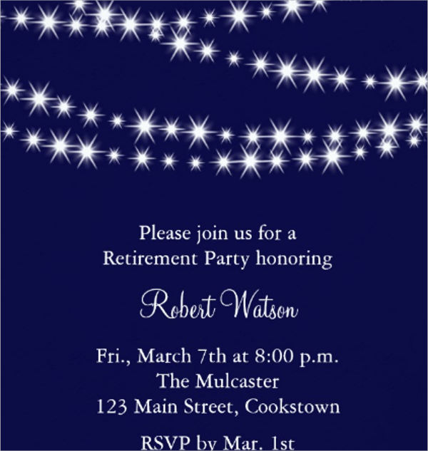 retirement reception invitation templates