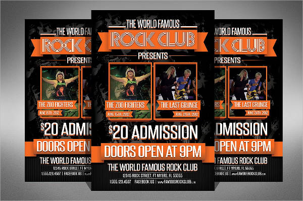 rock club flyer template