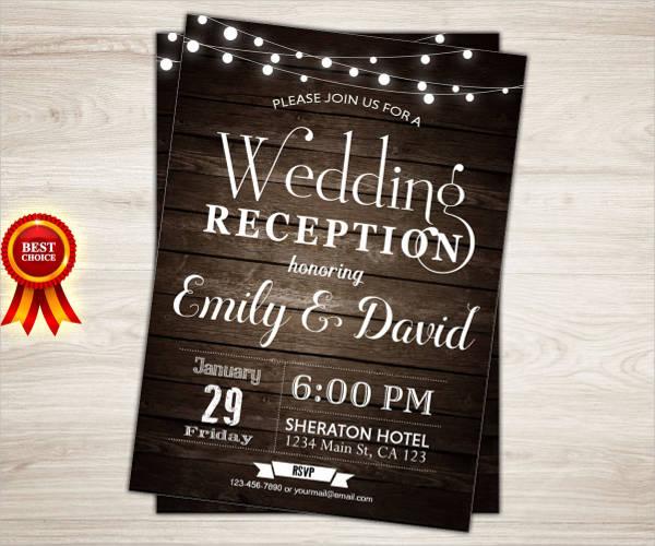 rustic wedding reception invitations1