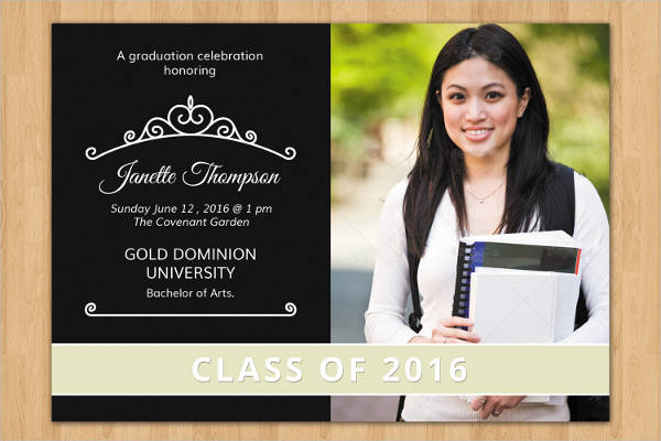 sale senior graduation invitation template