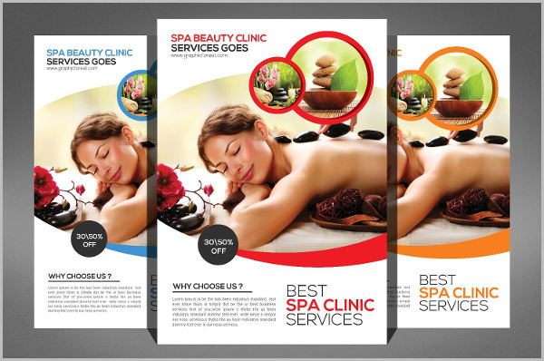 spa products beauty salon business flyer