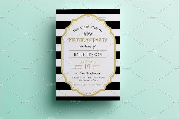 sample birthday party invitation template