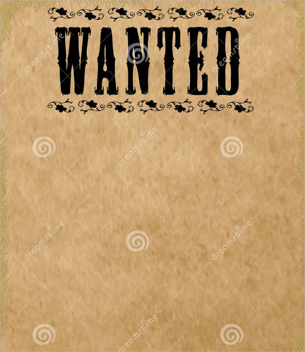sample blank wanted poster template1