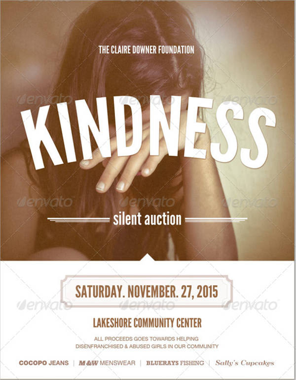 sample charity event flyer