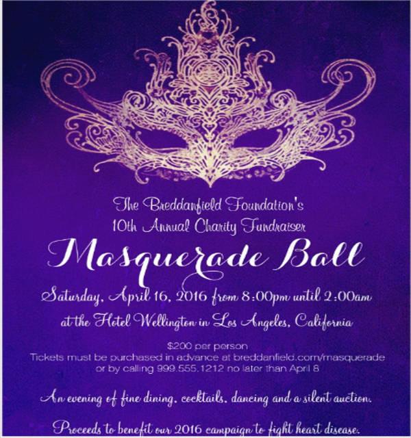 sample charity event invitation