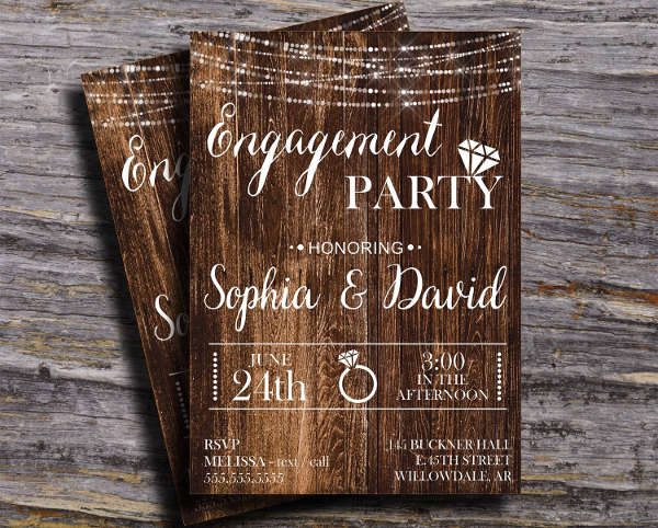 sample engagement invitation template