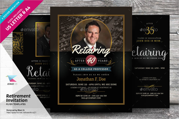 6 retirement invitation templates free download for Retirement announcement flyer template