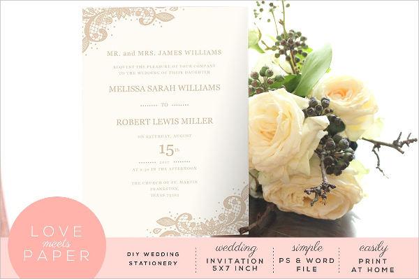 sample wedding invitation wording template