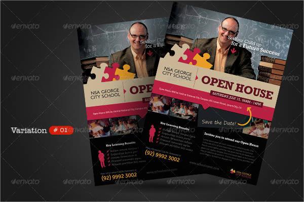 school open house event flyer