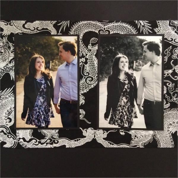 scrapbook engagement album