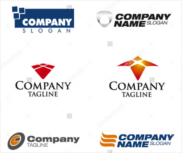 set of corporate vector logo templates
