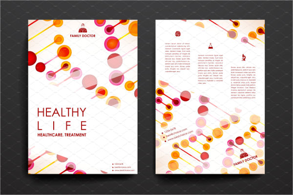 set of healthcare brochure template