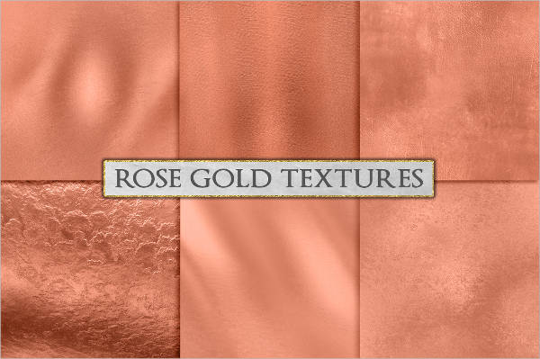 shinny rose gold textures