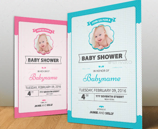 simple baby shower invitation template