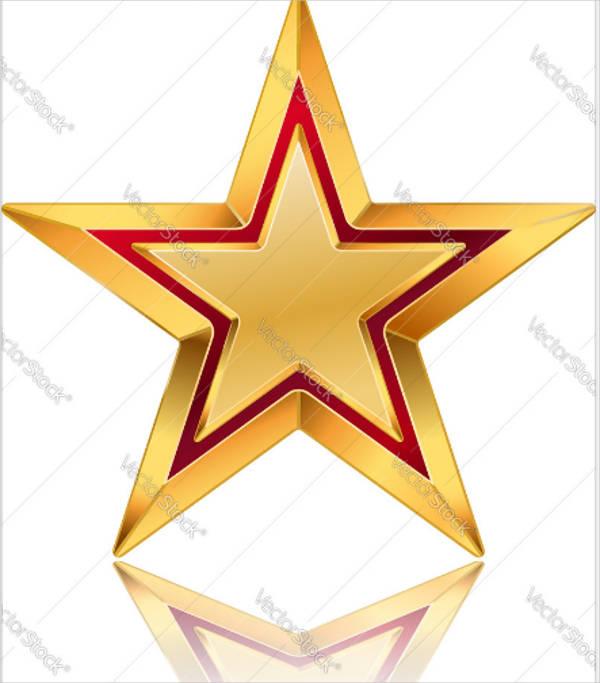 simple star vector design