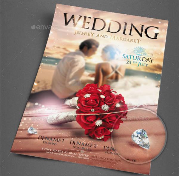 simple wedding party flyer