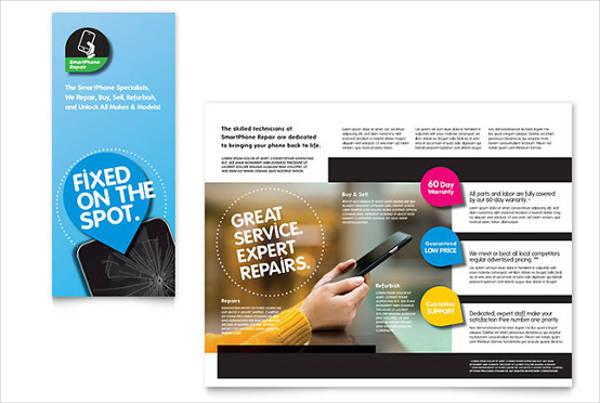 smartphone repair tri fold brochure
