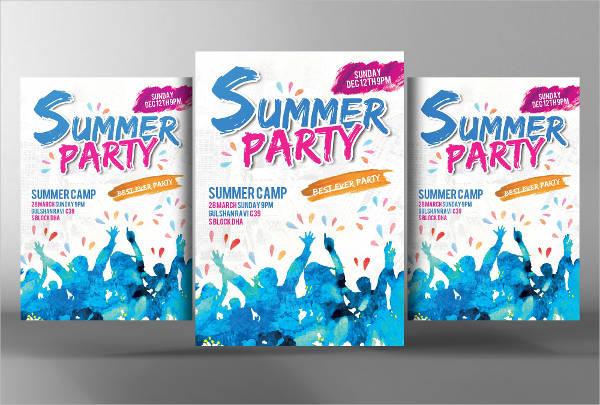 summer camp event flyer
