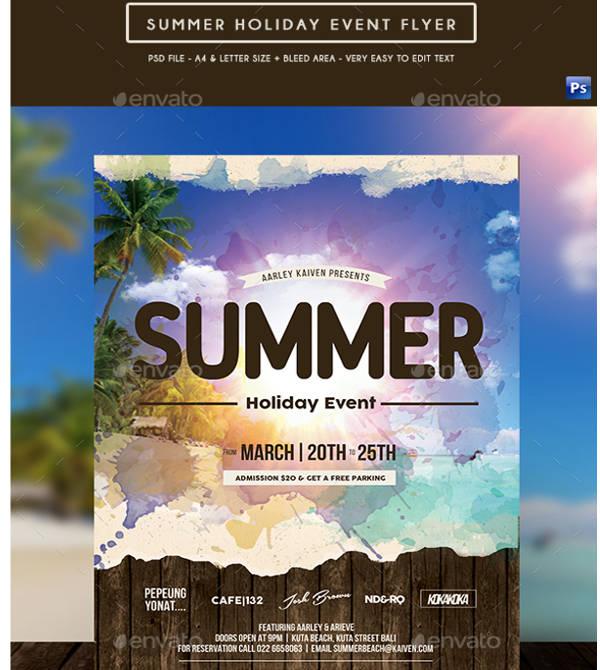 summer holidays event flyer