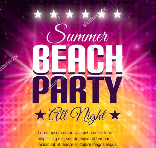 summer lights beach party flyer template