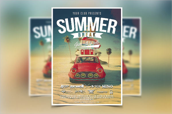 summer party event flyer