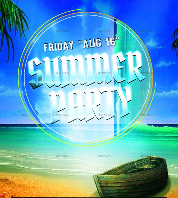 summer party premium club flyer