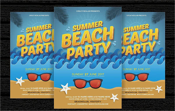 summer pool party flyer1
