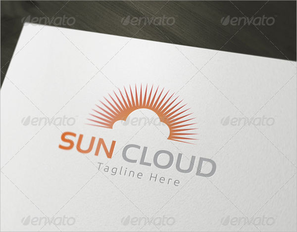 sun cloud logo design