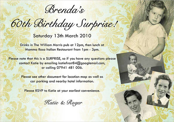 surprise 60th birthday party invitation templates