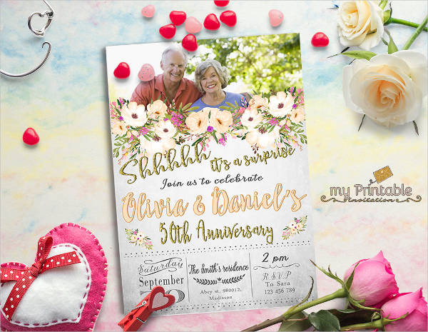 surprise anniversary party invitations