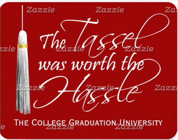 tassel was worth the hassle college graduation card