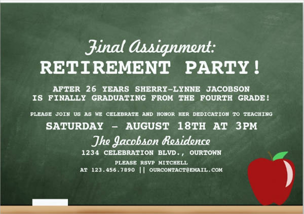 33 Party Invitation Templates Download – Retirement Party Invitation Template