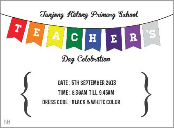 teachers day invitation cards handmade