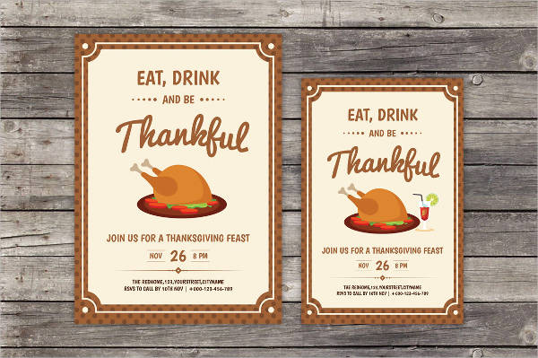 thanksgiving day home party flyer1