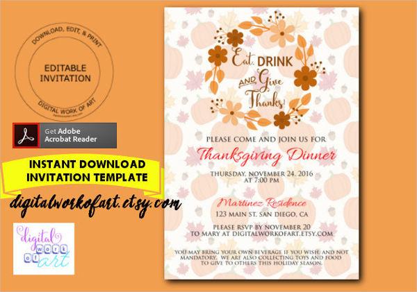 thanksgiving dinner invitation template1